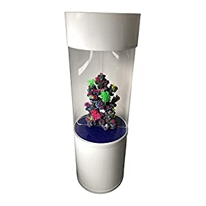 Finest-Filters 147/260 Litre Column Aquarium Fish Tank Cylinder in High Gloss Black or White (260 Litre, White)