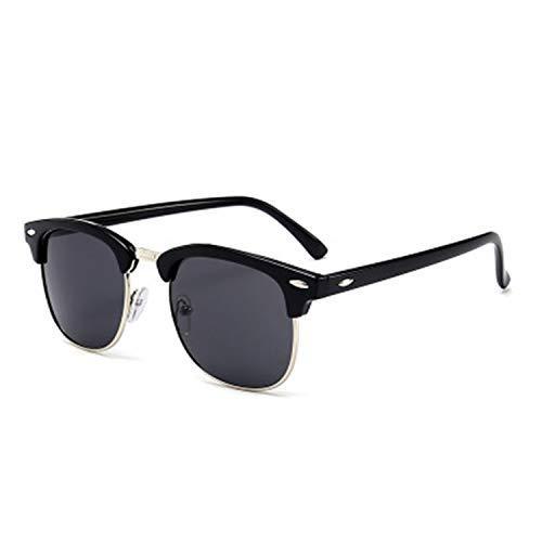 Daawqee Prämie Sonnenbrillen,Brillen,Men Sunglasses Brand Designer Classic UV400 Mirror Lady Sun Glasses Male Female L Rayed Small Size Hot Half Frame Women Multi Gray