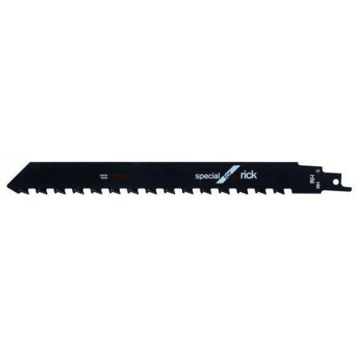 Bosch Professional 2608650354 Lame de scie sabre S 1543 HM Special for Brick S 1543 HM Mise en carbure pour matériaux de construction de petite taille jusqu'à une épaisseur de 150 mm, 1 pièc