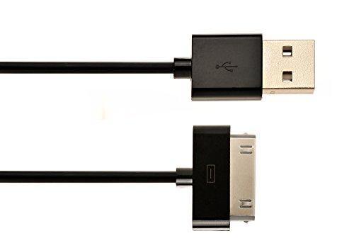 iprotect Original USB Ladekabel Datenkabel 2 Meter Schwarz für iPhone und iPod 4S 4 3GS Classic Touch Nano 3G 2G Photo Mini