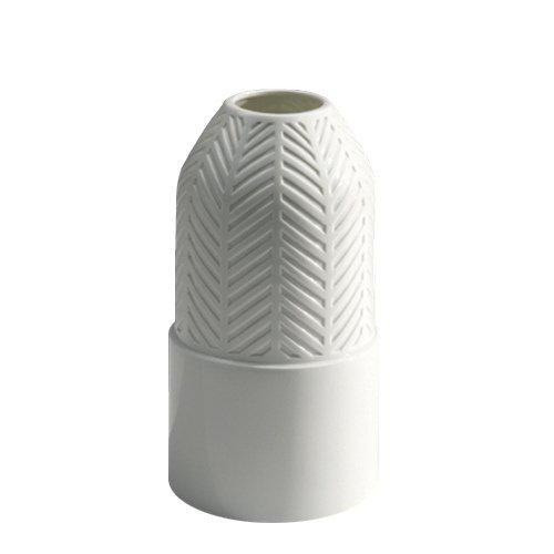 Industreal vase tisse vaso in porcellana bianca smaltata