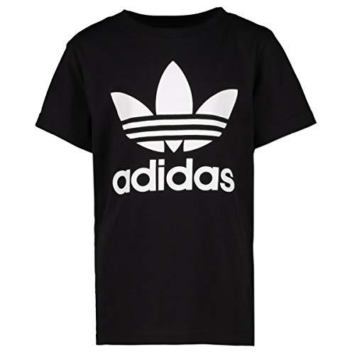 Adidas trefoil, t-shirt bambino unisex, black/white, 62
