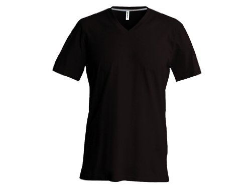T-Shirt mit V-Ausschnitt Fuchsia