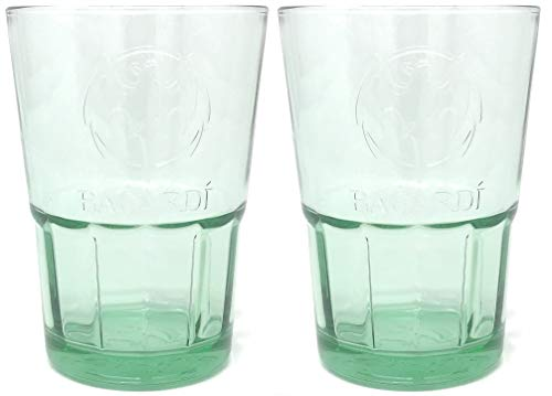 2 x Bacardi Glas grün getönt Mojito Cocktailgläser