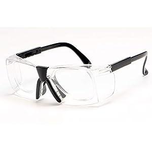 Epinki Erwachsene TPU+PC Arbeitsschutzbrille Staubdicht Anti-Schock Schutzbrillen Outdoor Schutz Brille Schwarz