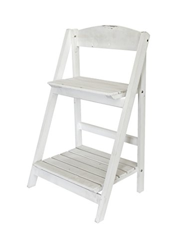 Decoline Holz Blumen-Treppe 1 Stk. klein 66cm weiß
