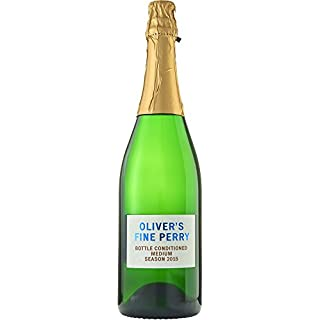 Oliver's Bottle Conditioned Fine English Perry - Award Winning Naturally Sparkling Medium-Dry Perry from Herefordshire, England by Oliver's Cider and Perry Co | 5.4% ABV 750ml Fine Craft Cider Gift (Suitable for vegans and coeliacs/gluten free)