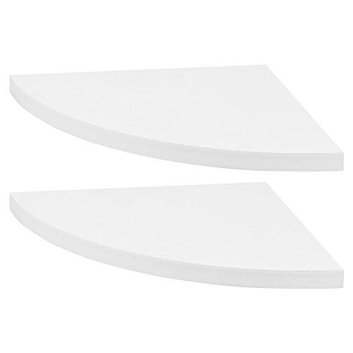 Hartleys - set mensole angolari - coppia - bianco