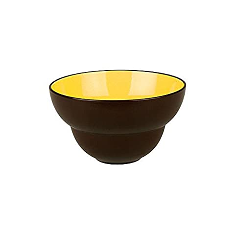 Bowl Ø 11 cm DUO - Curry/Chocolate