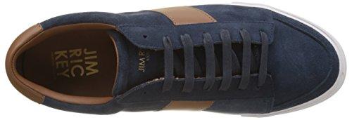 Jim Rickey Gusten Sneaker Alte Uomo Bleu navy chocolate