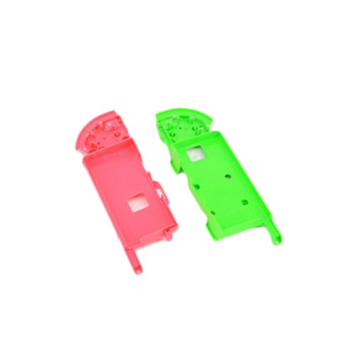 Feicuan Ersatz Hülle Tasche Etui Battery Holder Plate Stand Cover Parts für Nintendo Switch Controller Joy-Con, Red and Green