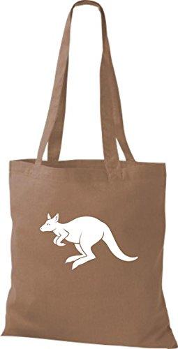 Shirtstown Stoffbeutel Tiere Känguru Roo Hellbraun