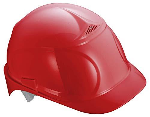Uvex Airwing B-WR Schutzhelm für die Baustelle - Drehrad und Langer Schirm - Rot
