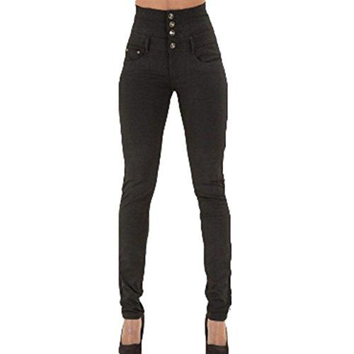 Juleya Jeans Mujer Pantalones elásticos de Cintura Alta Straight Denim Pants Sexy Pantalones lápiz...