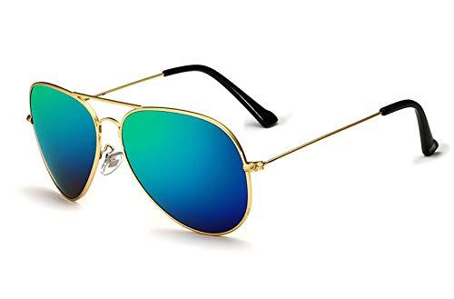 Macxy - Unisex Klassisch Designer Herren Sonnenbrille polarisierte UV400 Spiegel Objektiv Mode Sonnenbrillen Brillen für Männer Frauen [Goldgreen]