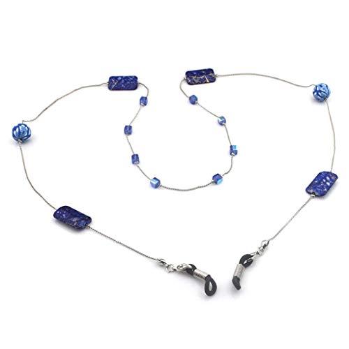 Gläser Kette Floral Perlen Anhänger Anti Fall Rutschfeste Lanyard Mode Gummi Ring Strap Seil Für Lesebrille Brillen Zubehör Bunte Kreative Halskette Halter