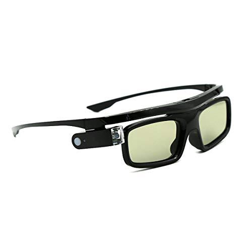 3D-Brille, 3D Aktive Shutterbrille Wiederaufladbare Brillen, Geeignet für 3D DLP-Link Projektor Acer BenQ Optoma Viewsonic Philips LG Infocus NEC Jmgo Vivitek Cocar Toumei - 1 Stück