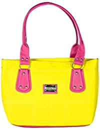 SPERO ™ Women's Stylish Zip Lock Casual Yellow Handbag With Free Shipping - B07922BBSH