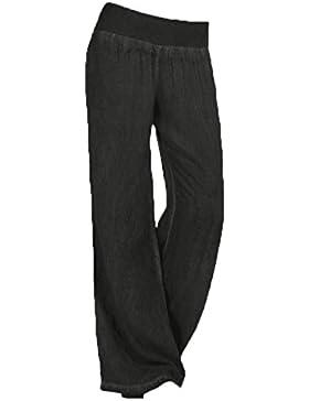 Juleya Mujer Pantalones Bootcut Pantalones Acampanados Pantalones Marlene de Cintura Alta Estampado de Flores...