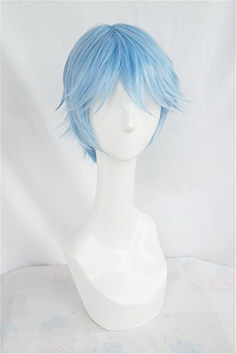 �cke SHONEN MAGAZINE COMICS Blue Perücke Corta Cosplay Party Fashion Anime Human Costume Full wigs Synthetic Haar Heat Resistant Fiber (Frau Comic Kostüme)