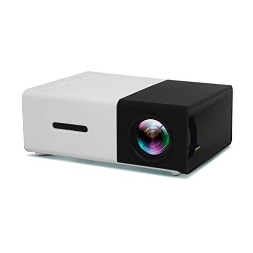 Proiettore tascabile - Mini proiettore LED compatibile con smartphone, PC, laptop per visualizzazione a schermo grande, HDMI, USB, scheda TF - Miglior gadget, per bambini