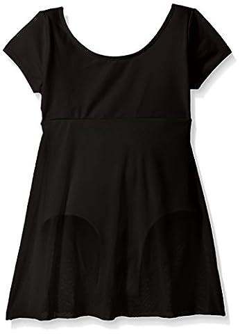 Danskin Girls' Cap Sleeve Skirted Leotard - black -