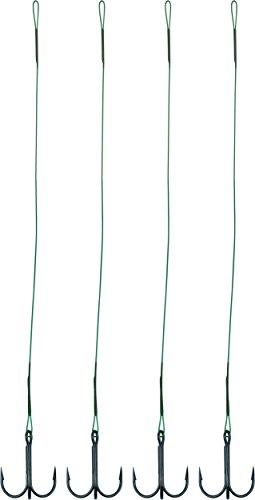 Raubfischvorfach Stahlvorfach 4 Stück mit Drilling Hecht Zander Länge 40 cm, Größe:2