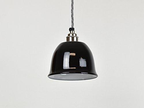 (Klein Schwarz Bell Cup Industrie Emaille Vintage Factory Lager-Stil Lampe Schatten)