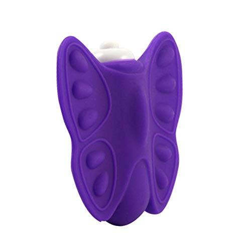 Adminitto88 Intelligente Drahtlose Schmetterling Massagegerät, Fernbedienung Sexy Vibrator, Knopfzelle Massagegerät Vaginal Engen Gymnastikball, Sexspielzeug Für Paare Kontrolle Für Frauen -