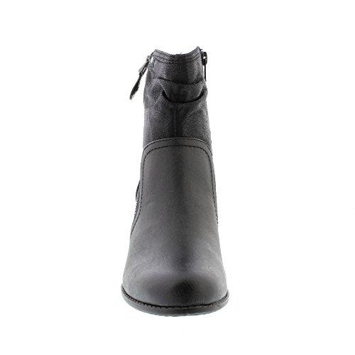 Softline 25370, Bottes Femme Noir (Black)