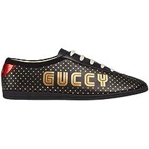 Gucci italia - Zapatillas de Cuero para Hombre Negro Negro