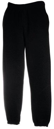 Freizeithose Jogginghose mit elastischem Beinabschluss, Black, XXL