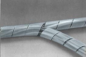 Spiralschlauch / Kabelspirale / Kabelbinder / Kabelschlauch 10 Meter, Dicke 20 bis 100mm, weiss von premium-technik auf Lampenhans.de