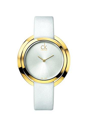 Calvin Klein Reloj Analógico para Mujer de Cuarzo con Correa en Cuero K3U235L6