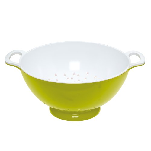 Kitchen Craft - Colourworks Scolapasta melamina, 24cm, Colore: Verde
