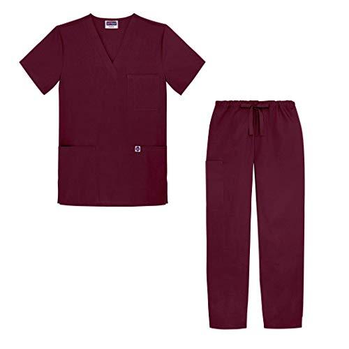 Sivvan Unisex-Schrubb-Set - Medizinische Uniform mit Oberteil und Hose S8400 Farbe: BRG | Größe: XS -