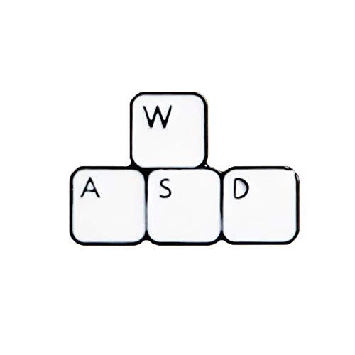 JTXZD Brosche WASD Tastatur Hexe Magic Hat La Cxxxx Sprudelwasser Aprikosen Mango Geschmack Getränkedose Emaille Brosche Anstecknadel (Getränkedose Hat)