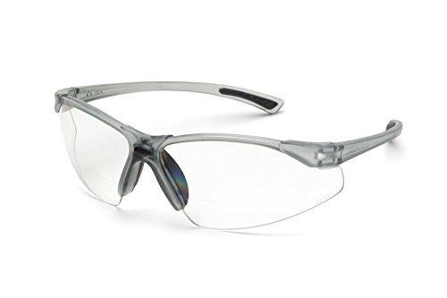 Elvex WELRX20030 RX-200 Clear Lens, 3.0 Diopter, Translucent Grey Frame by Elvex