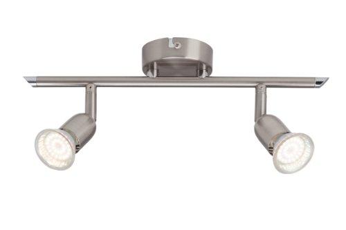 Brilliant Loona LED Spotrohr, 2-flammig, 2x LED GU10 2.5W inklusiv, eisen G28813/13