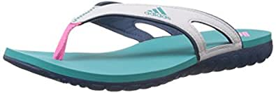adidas Women's Calo 5 W Blue and White Flip-Flops and House Slippers - 7 UK