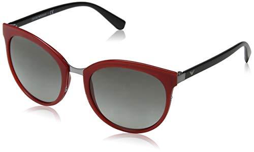Emporio Armani Damen 0EA2055 Sonnenbrille, Rot (Opal Red), 55