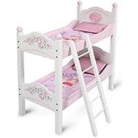 Decuevas Toys Maria, litera de madera con escalera convertible con colchones y almohadas, 28.5