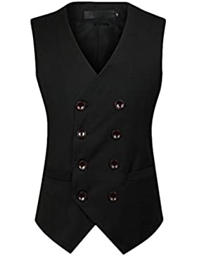 Zhuhaitf respirable Mens V-neck High Quality Business Double Breasted Suit Jacket Vest