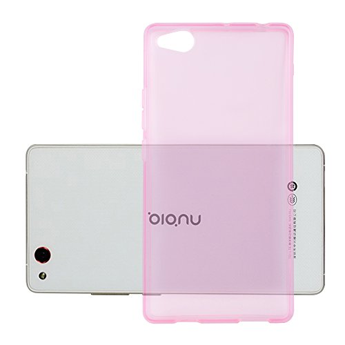 Cadorabo Hülle für ZTE Nubia Z9 MAX - Hülle in TRANSPARENT PINK – Handyhülle aus TPU Silikon im Ultra Slim 'AIR' Design - Silikonhülle Schutzhülle Soft Back Cover Case Bumper