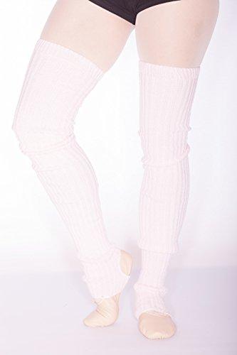 Stulpen für Ballett und Tanz gerippt (96cm lang) (WEISS) -