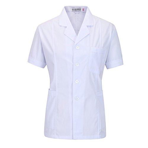 shane&shaina Kurzarm kurze abschnitt kittel ärzte krankenschwestern bekleidung arbeitskleidung arbeit (damen, XL)