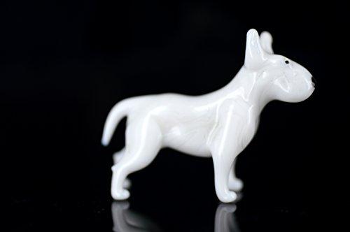 Perro Blanco–Figura de cristal blanco Bull Terrier–B8–