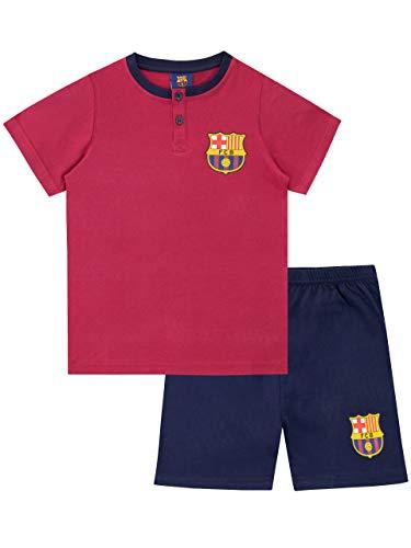 Pijama para niños del Barcelona FC. Todos los fanáticos del Barcelona anotarán un golazo cada noche al dormir con este conjunto. Con los colores del equipo, esta pijama del Barcelona viene con el logo del club de fútbol en el pecho del top que, ademá...