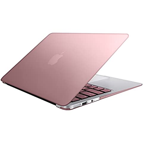 MacBook Air 11 Custodia Copertina, SlickBlue Plastica Cover rigida per MacBook Air da 11,6 Pollici (A1370 e A1465) - Rosa oro