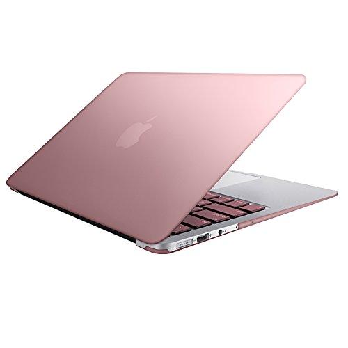 MacBook Air 11 Custodia Copertina, SlickBlue Plastica Cover rigida per MacBook Air da 11,6 Pollici (A1370 e A1465) - Rosa oro
